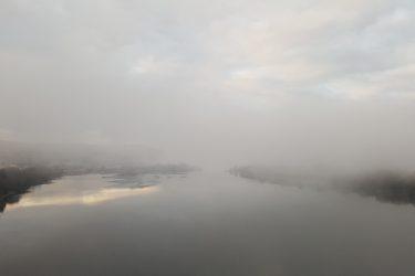 Rio Minho visto da ponte internacional de Cerveira