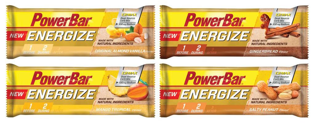 Os 4 sabores da Powerbar Energize