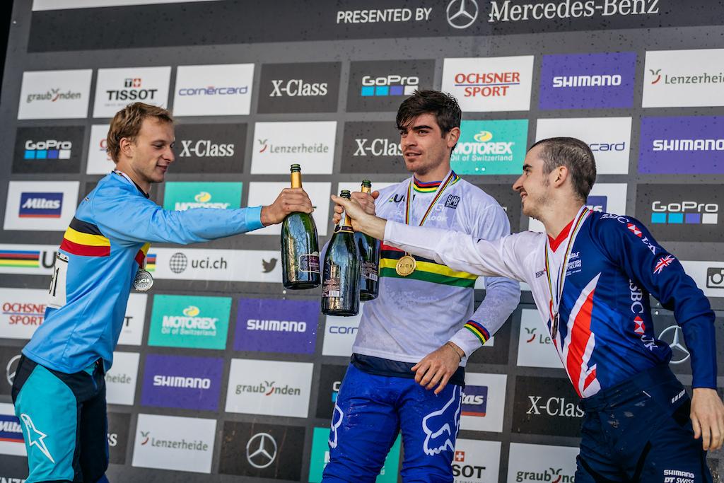 Campeões em Downhill - Loic Bruni, Martin Maes e Danny Hart